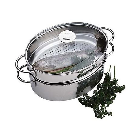cuit vapeur ovale complet inox cristel la carpe
