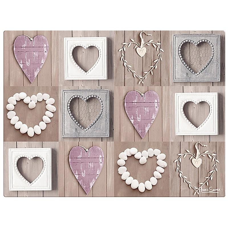 planche d couper en verre coeurs romantiques la carpe. Black Bedroom Furniture Sets. Home Design Ideas